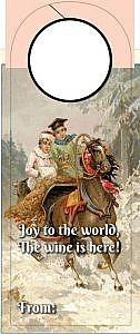 Christmas Wine tag - joy to the world