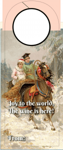Christmas Wine tag - joy to the world
