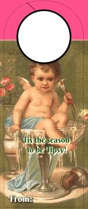 Christmas Wine tag - season to be tipsy
