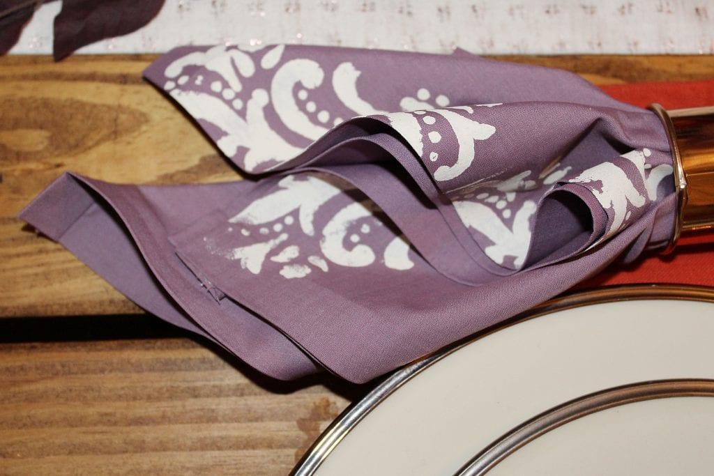 diy stenciled napkins