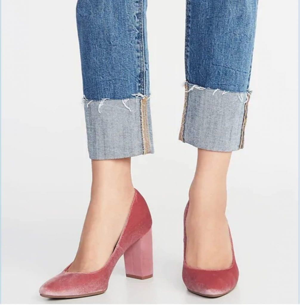 my favorite things - pink velvet shoe
