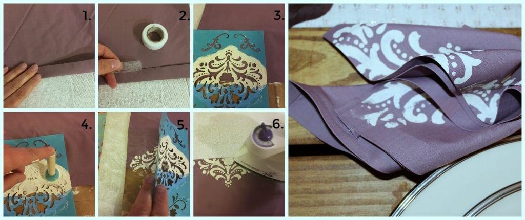 stencil napkins