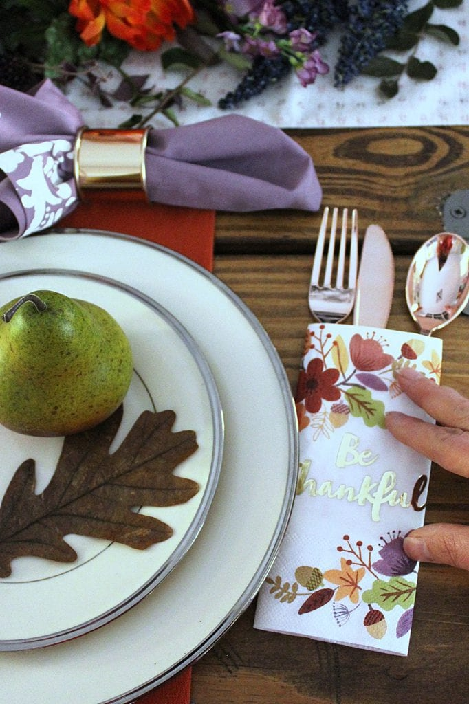 stenciled napkins
