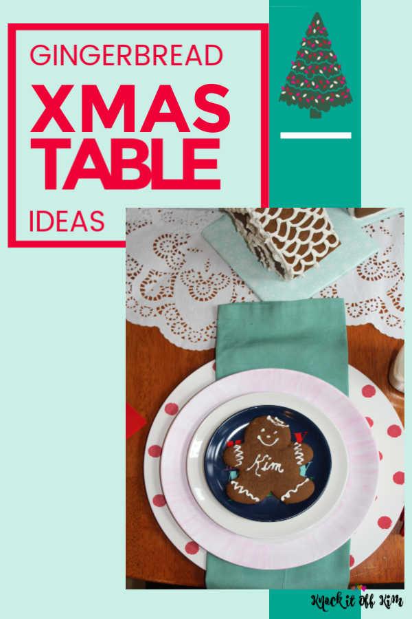 Christmas Table Gingerbread Pin