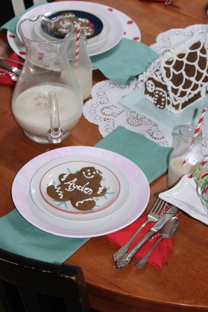 christmas table_gingerbread table decorations