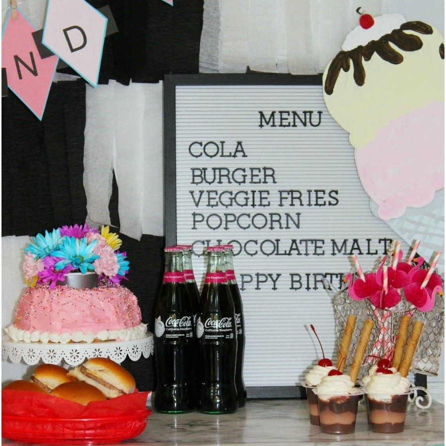 party props and decor - 50s party square