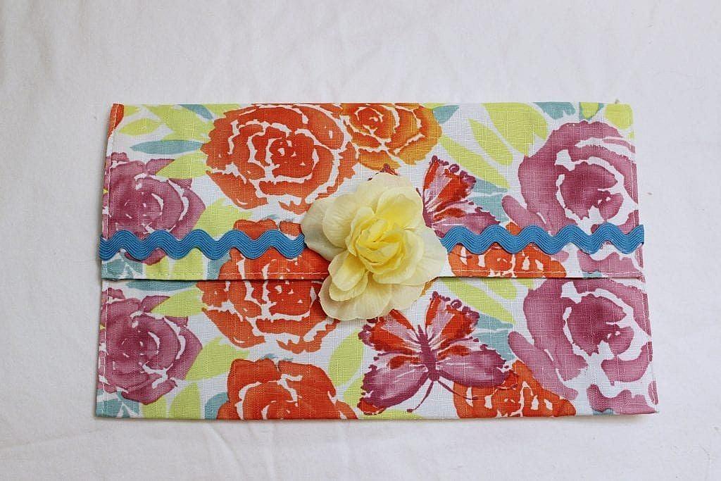 diy fabric clutch purse