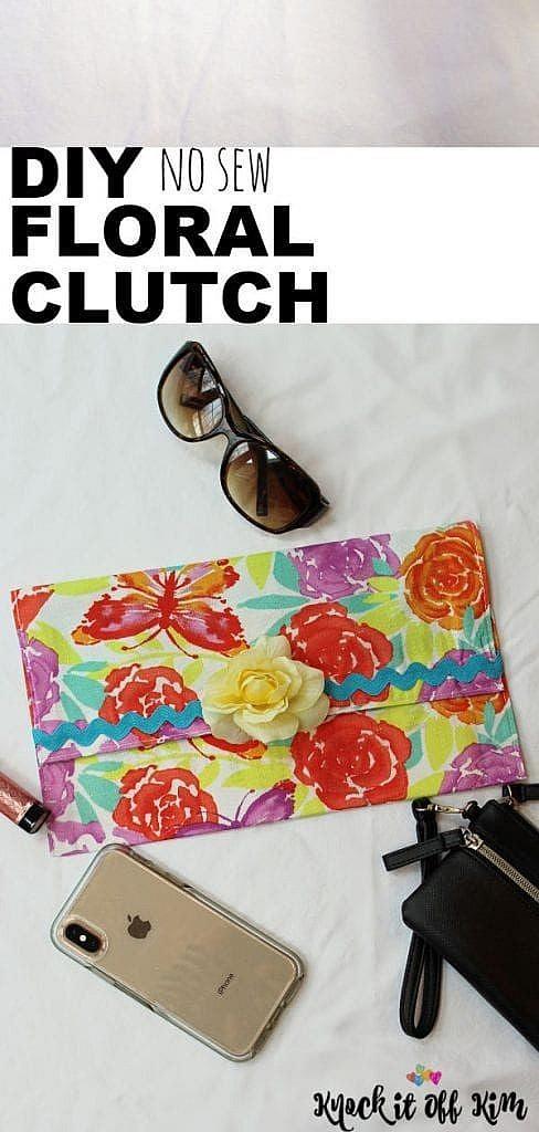 diy clutch bag pin
