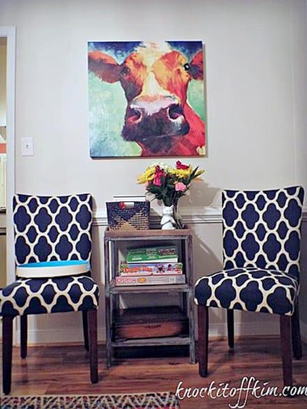 multipurpose dining room - book cart