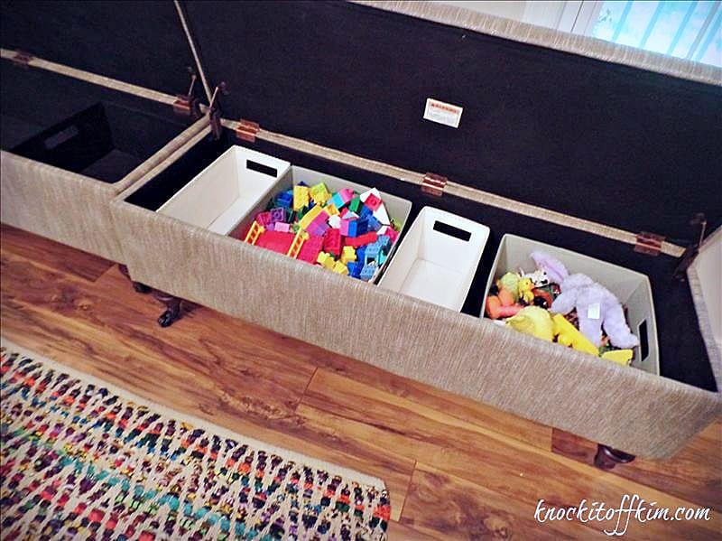 multipurpose dining room - storage benches