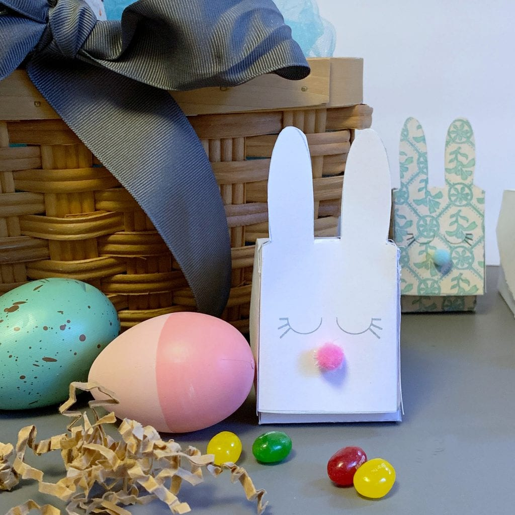 Free DIY Easter Printable Bunny Treat Box Template