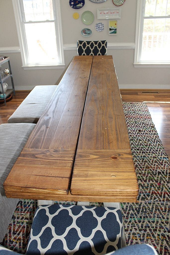 DIY Dining Table - Assemble Top