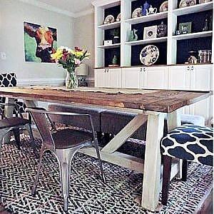 diy farmhouse dining table_feature