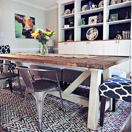 diy farmhouse dining table_feature