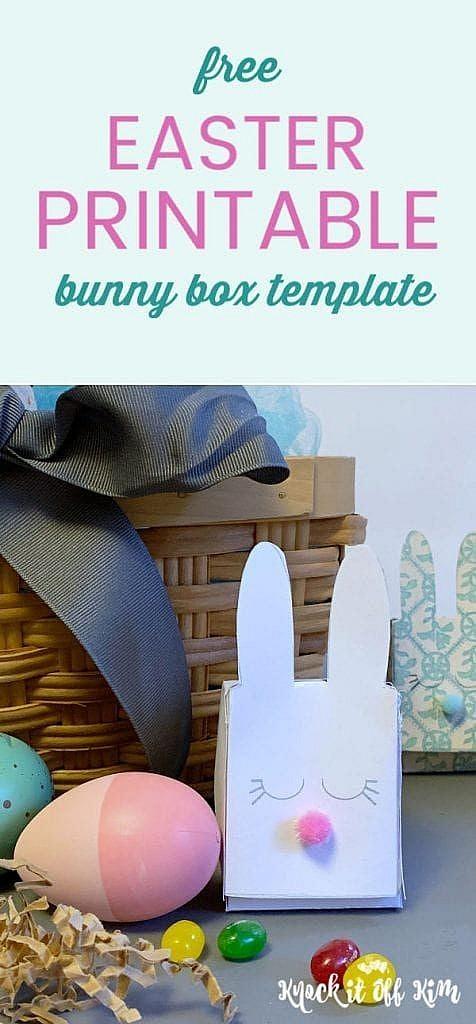 free easter printable bunny box