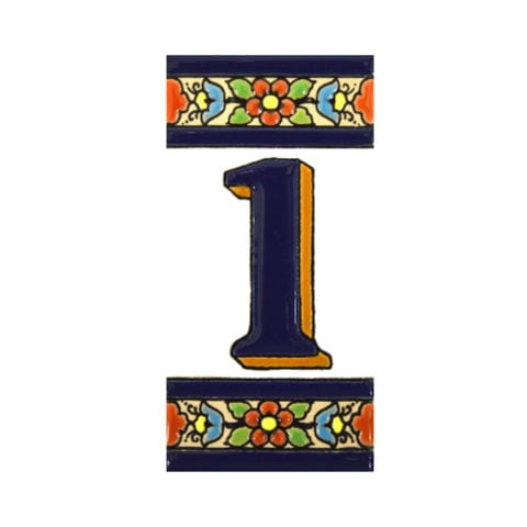 house number plaque - tile