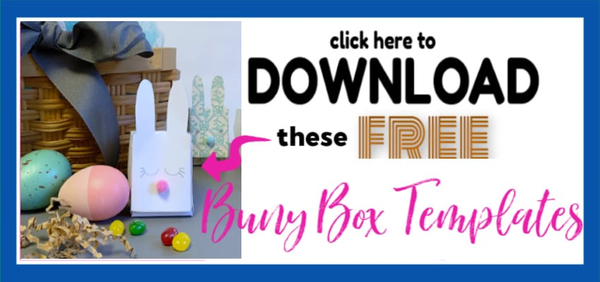 Easter Bunny Box Template Ads