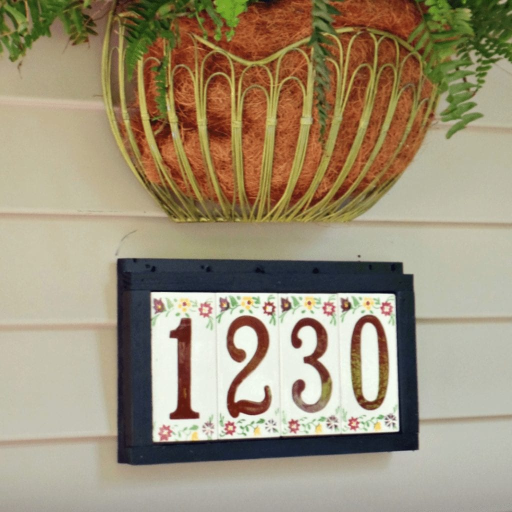 house number plaque - feature photo