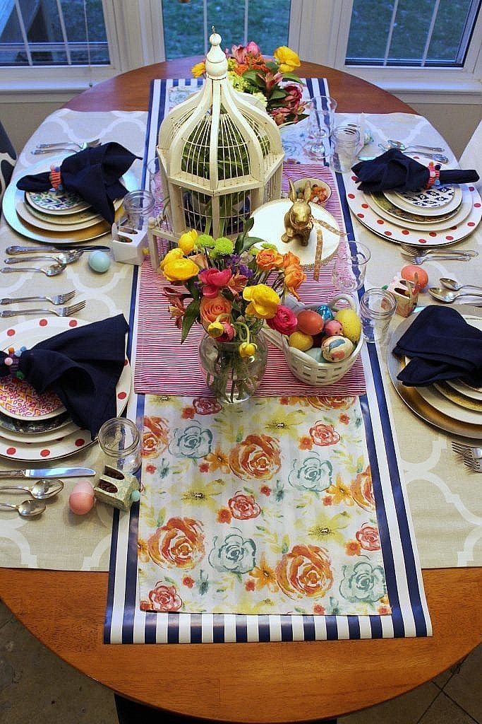 simple centerpieces for easter table