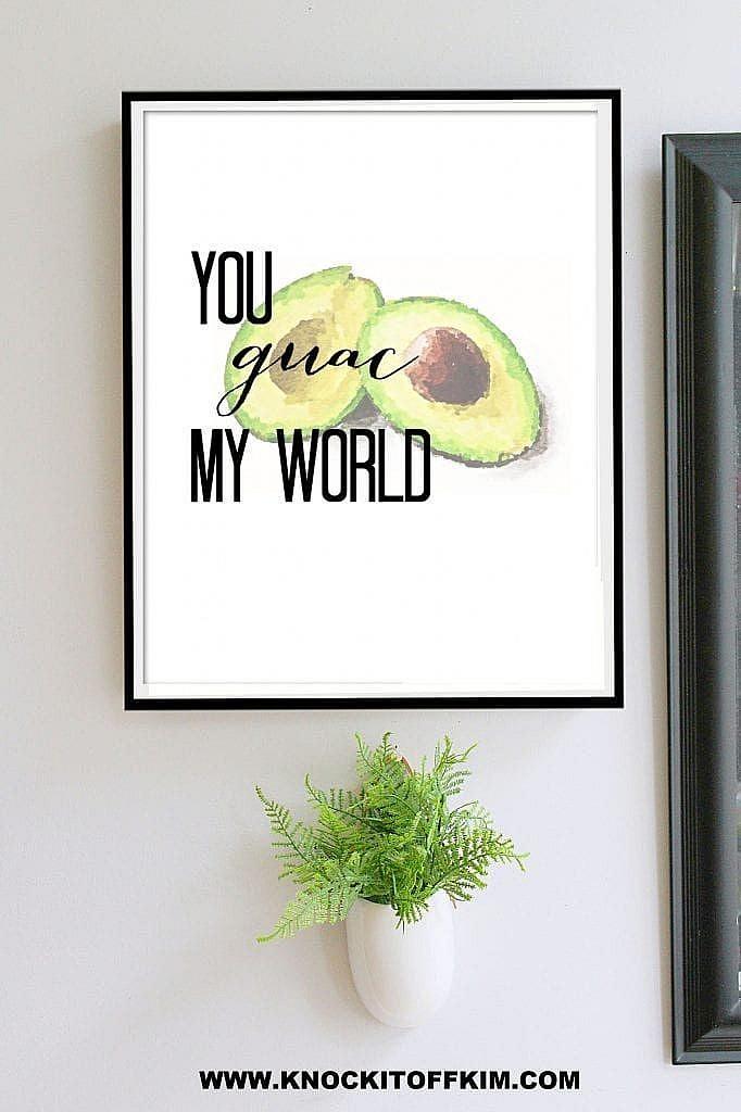 veg jokes - printable wall art