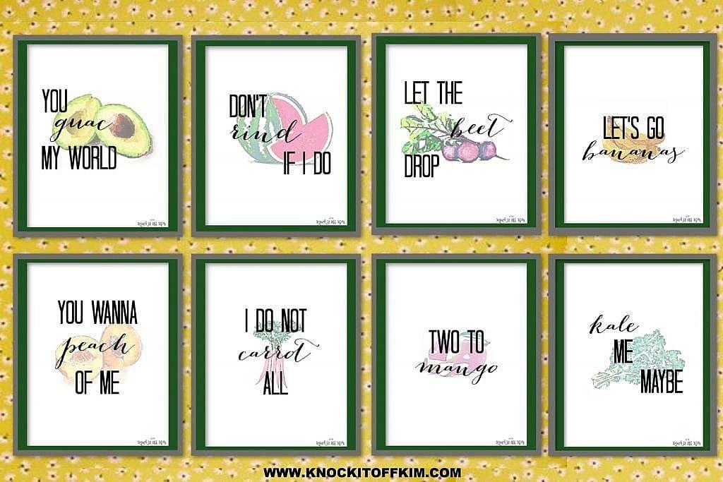 vegetable puns art prints
