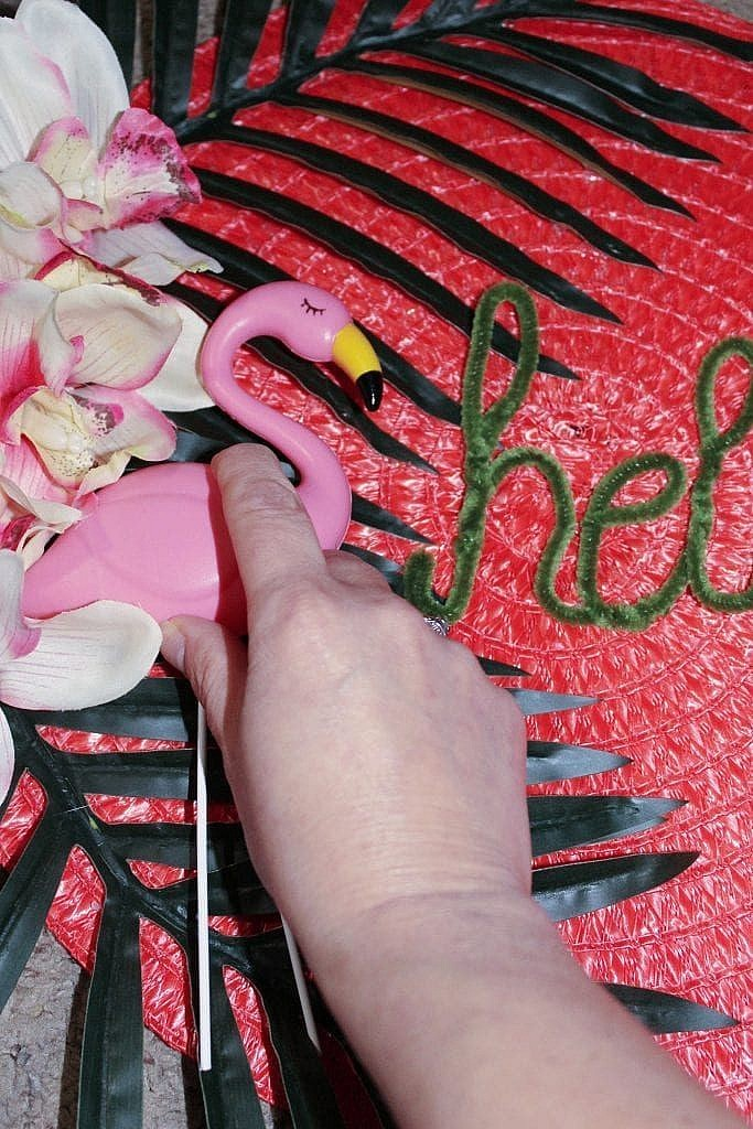 flamingo floral wreath