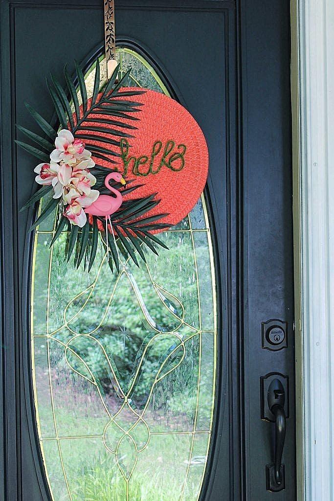 front door wreath summer