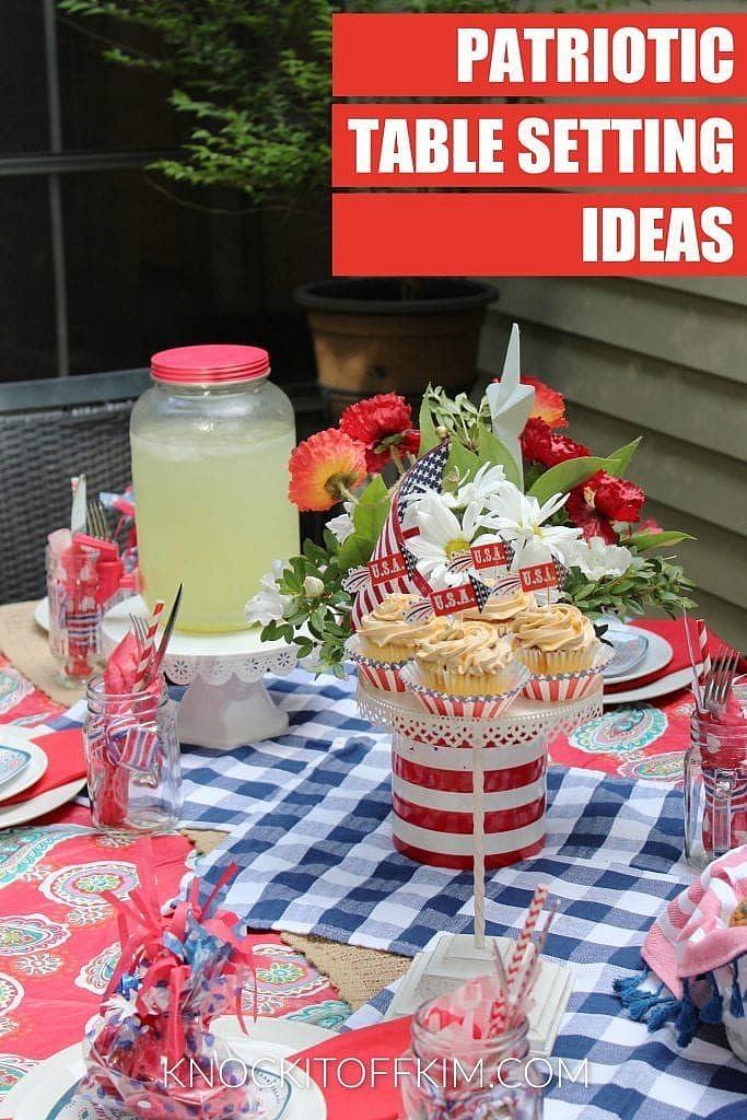 patriotic table setting ideas