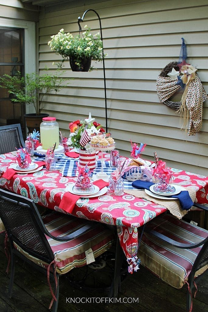 patriotic table setting ideas_DIY