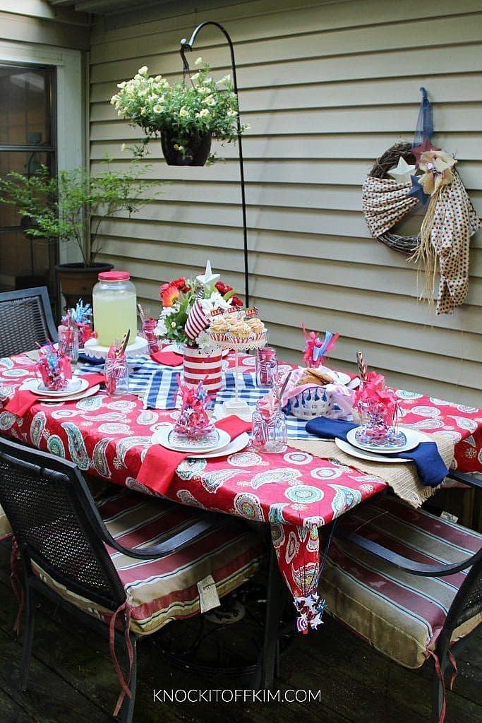 patriotic table setting ideas_DIY