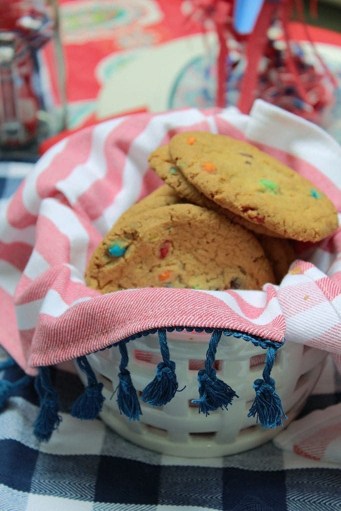 patriotic table setting ideas_cookies