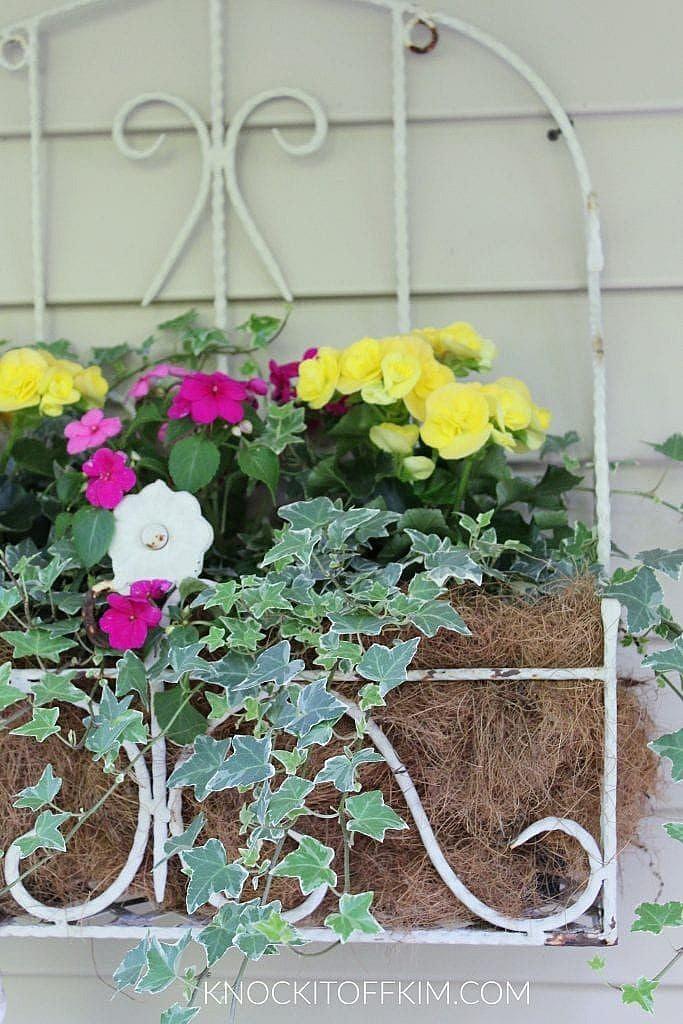 spring porch hanging basket ideas