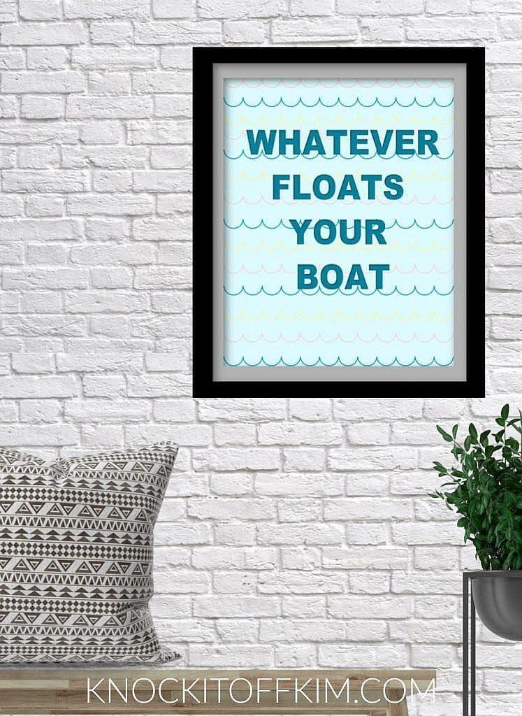 summer pun print_whatever floats your boat