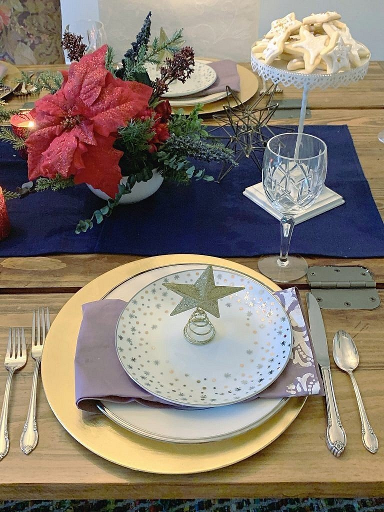 celestial christmas table scape