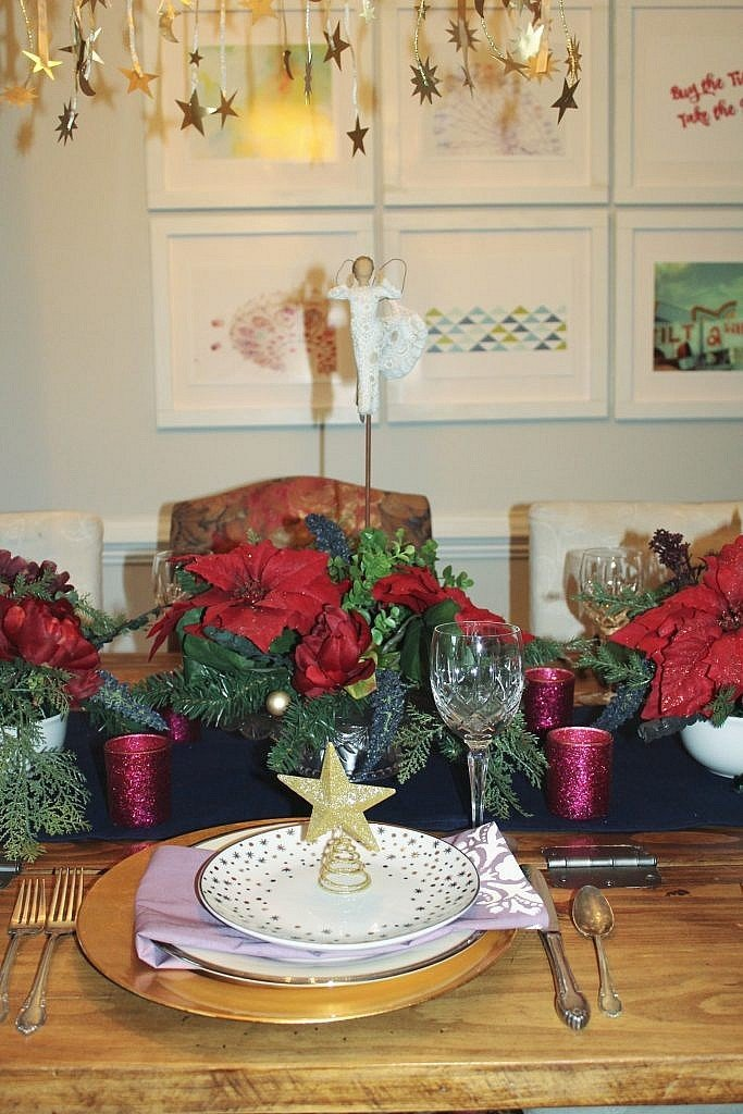 celestial holiday table