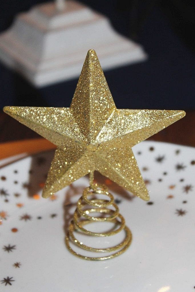 christmas star - christmas tablescape