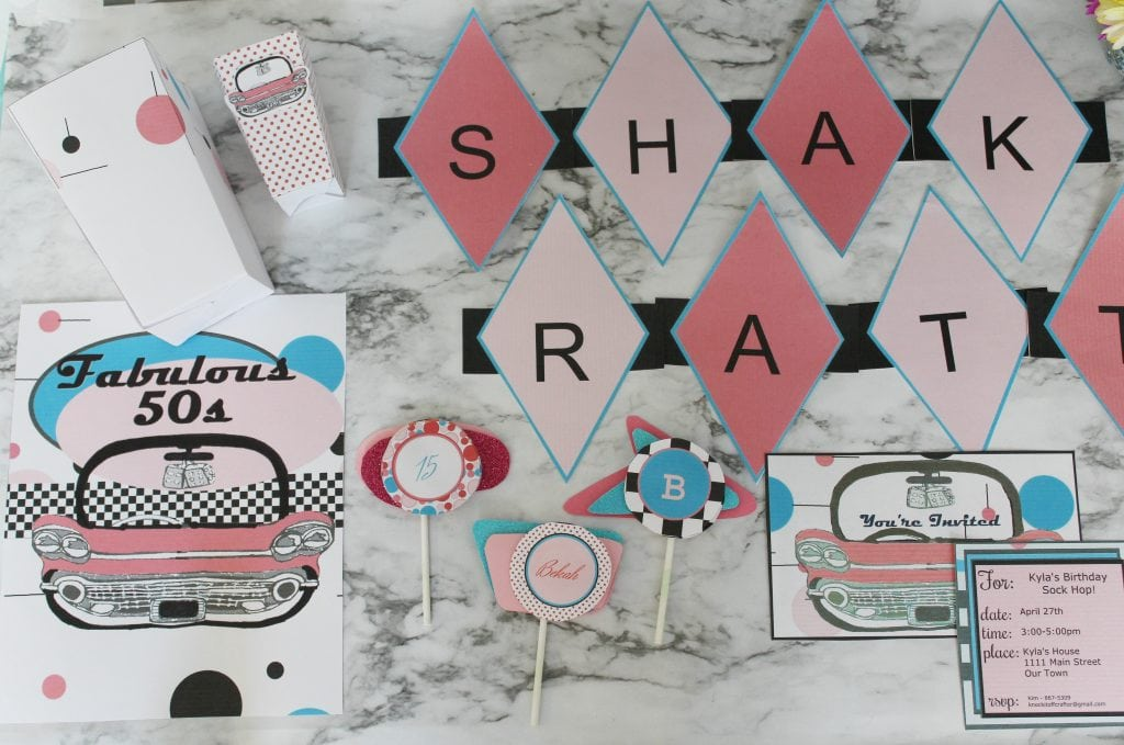 50s theme party pack